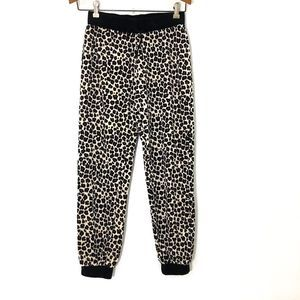 JUICY COUTURE Girls Animal Print Velour Joggers LG